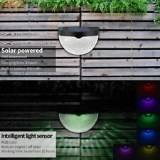 2X Solar Powered Wall Mounted LED Light Outdoor Garden Landscape Fence Yard Lamp