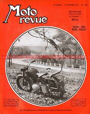 MOTO REVUE 1109 René GILLET 250 BSA 250 C11 500 A7 GALLETTO GUZZI Salon 1952
