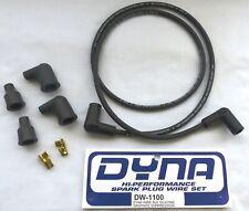 Dyna Spark Plug Wire Kit DW1100 Black Silicone Graphite Suppression 7mm Wire