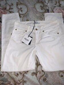 Bnwt Liu Jo White Jeans Size 6-8 27