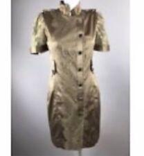 Karen Millen Khaki Lace Moroni Safari Romantic Gold Dress UK14/US10