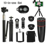 10-in-1 8X Telephoto Wide-angle Macro Camera & Selfie Stick/Tripod Stand