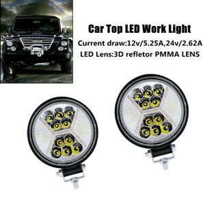2X 117W 9V/36V LED Work Light Fog Lamp Truck Off-Road Tractor Flood Lights Part