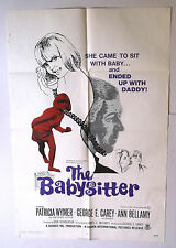 THE BABY SITTER vtg 1969 MOVIE POSTER SEXPLOITATION adult PATRICIA WYMER gga