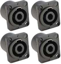 4x Speakon kompatible Einbaubuchse 4-polig, Einbaukupplung Einbau-Buchse 4-pol