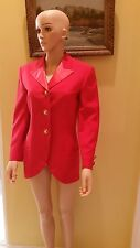 VERSACE COUTURE RED 100% WOOL FORMAL JACKET,SIZE 38