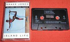 GRACE JONES - RARE UK CASSETTE TAPE WITH 3 BONUS TRACKS - ISLAND LIFE
