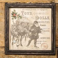 Ragon House Collection Vintage Style Toys And Dolls Framed Magnetic Note Board