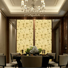Static Cling 3D Floral Window Films No Glue Glass Sticker Opaque Home Decor Chic