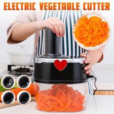 Electric Vegetable Fruit Cutter Chopper Grater Slicer Shredding Salad Tool  ☆√