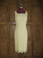 Dolce & Gabbana Yellow Lace Sheath Dress IT38  US 2 NWT $2.5K