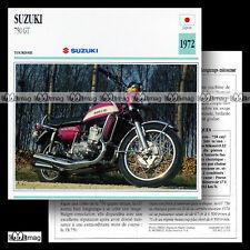 #021.13 SUZUKI GT 750 1972 Fiche Moto Classic Bike Motorcycle Card