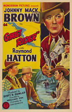 Johnny Mack Brown Western movie poster 24x36 inches Flaming Frontiers 1938