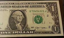 $1 FANCY LADDER SERIAL # B79454321J series 2009