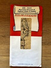 Map Of Invasions Of England Wales & Ireland John Speed #316 Authentic Replica