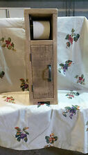 NEW SOLID WOOD RUSTIC PLANK FREE STANDING TOILET ROLL HOLDER STORAGE CUPBOARD