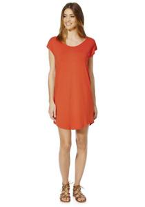 Women's Twist Detail T-Shirt Dress Loose Tops short Sleeve Short  Casual Blouse