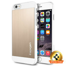 [Spigen Outlet] iPhone 6/ 6S [Aluminum Fit] Champagne Gold PC Sleek Design Case