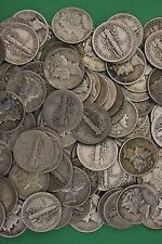 MAKE OFFER 2 Troy Ounces Mercury Dimes 90% Silver Junk Coins US Bullion