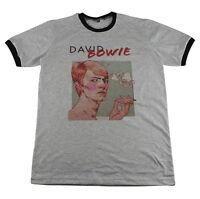 David Bowie Rock World Tour Music Artist Pop Art >C001 Men Ringer T-Shirt M L XL