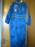 RACING CAR DRIVER DRESSING UP OUTFIT OVERALLS  CHILD SIZE 9-10YRS BNWT