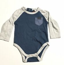 NWT 7 For All Mankind Infant Shirt Snap Closure 6-9 Months