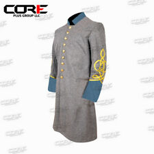 Us Civil War Confederate Officer's 3 Row Braid Single Breast Infantry Frock Coat