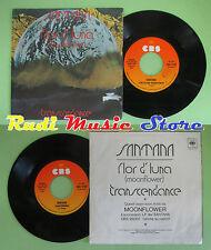 LP 45 7'' CARLOS SANTANA Flor d'luna Trancendance 1977 italy CBS no cd mc dvd(*)
