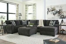 Ashley Furniture Ballinasloe 3 Piece Sectional Living Room Smoke