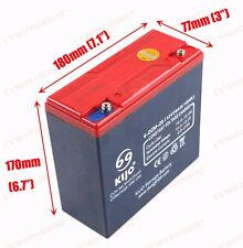 6-DZM-20 12V 20Ah AGM Deep Cycle Rechargeable Battery Scooter Golf Buggy Quad