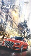 2017  Audi A3  - 2,0T/quattro/Sportback e-tron and S3 Models - 50 Page Brochure