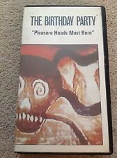 The Birthday Party Pleasure Heads Must Burn (live) VHS Nick Cave very rare