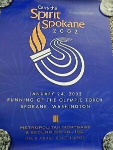 Running of the Olympic Torch 2002 Metropolitan Mortgage Spokane Wa Poster