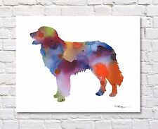 Hovawart Abstract Contemporary Watercolor Art 11 x 14 Print by Djr