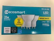 EcoSmart 35-Watt Equivalent GU10 Dimmable LED Light Bulb Bright White (3 pack)