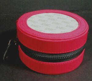 """2x Needlecraft Supplies  4"""" Round Silk Case w/Display Window/Red, Purple-IT2"""