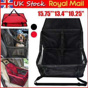 Folding Pet Dog Car Seat Safe Kennel Cat Puppy Travel Carrier Bed Bag Basket UK