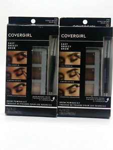 NEW Lot of 2 Sealed CoverGirl Easy Breezy Brow Powder Kit 715 Honey Brown