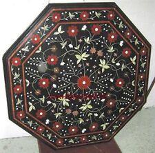 INLAY MARBLE DINING CORNER  3' TABLE TOP MOSAIC MALACHITE Mosaic Decor Art