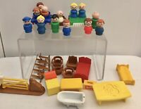 VINTAGE FISHER PRICE LITTLE PEOPLE Figures FURNITURE Spares BUNDLE