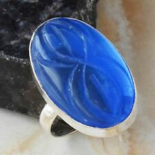 Carved-Tanzanite Ethnic Jewelry Handmade Ring US Size-7.75 AR 20257
