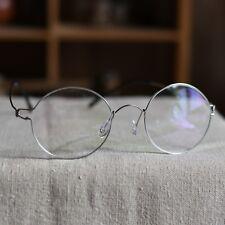 Vintage Titanium Round eyeglasses Steve Jobs mens womens RX optical eyeglasses