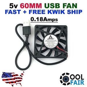 5v 60mm USB Cooling Fan DC 60x60x10mm 6010 Cooler Case Gdstime