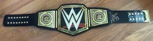 AJ STYLES SIGNED AUTO WWE CHAMPIONSHIP WRESTLING BELT photo PROOF