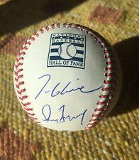 Greg Maddux / Tom Glavine Signed Autograph OMLB HOF Baseball PROOF MLB Braves