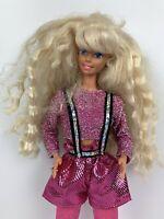 1966 Dance Moves Barbie Doll Mattel Pink Sparkle Shiny Suspenders Vintage