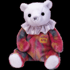 """TY BEANIE BABIES  HAPPY BIRTHDAY """"APRIL"""" THE BEAR. PACK OF 6 MINT WITH MINT TAG"""