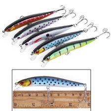 Señuelos de pesca 10cm / 8g plástico duro cebos bajos 5 colores Minnow Señuelos
