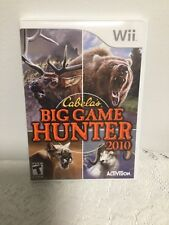 Wii CABELA'S BIG GAME HUNTER VIDEO GAME (2010) NINTENDO Wii