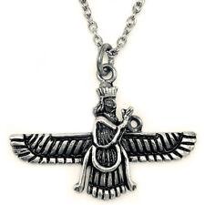 Small Sterling Silver 925 Farvahar Faravahar Farovahar Necklace Chain Persian
